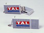 Seecontainer Container mit TAL Logo als individueller USB-Stick in Wunschform