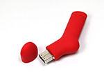 Socken USB-Stick mit Logo