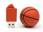 sport Werbeartikel orangener Basketball USB-Stick