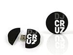 DJ cruz runder USB-Stick mit Logo
