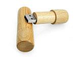 umweltfreundlicher runder USB-Stick aus Holz