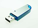 USB Anschluss eines eleganten Werbeartikel USB-Sticks mit gebürsteter Oberfläche