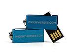 Mini USB-Stick farbig eloxiert mit Logogravur