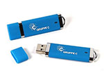 Kunststoff USB Stick gebrandet in Hausfarbe