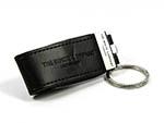 geprägter Leder USB Sticks für den Schlüsselbund