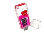 USB-Stick mit Flüssigkeit und individueller Figur