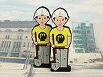USB Stick Bauarbeiter mit Branding individualiesierbar