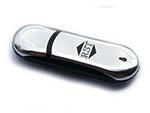 verchromter USB-Stick mit spiegelnder Oberfläche mit Logo bedrucken oder gravieren
