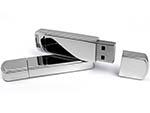 verspiegelte glänzende Metall USB-Sticks mit Logo gravieren
