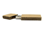 Wellpappe und Wellkarton USB-Sticks zum bedrucken mit Logo ökologisch