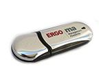 Werbegeschenk USB-Stick mit Ergo Management Logo bedruckt