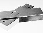 Werbemittel Metall USB-Stick mit Bügel zum drehen